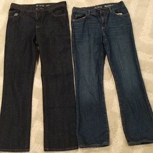 2 pair boys jeans